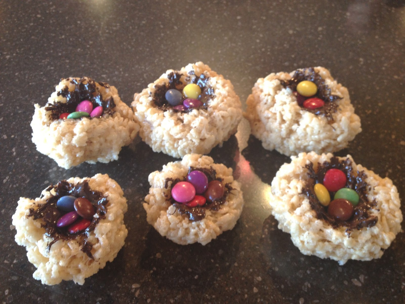 Rice Krispie Birds' Nest Treats